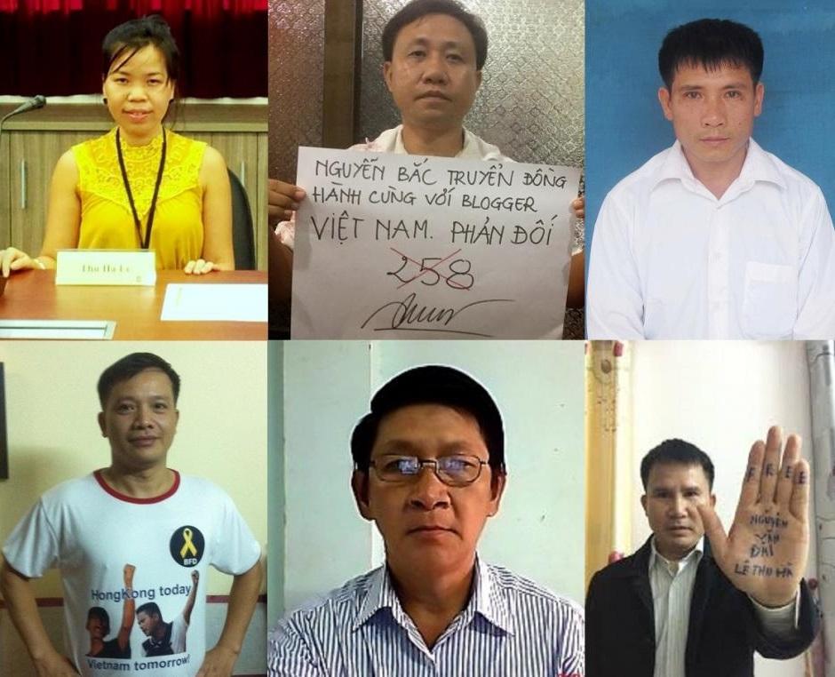 Human Rights Watch yêu cầu hủy cáo trạng đối với 6 người bảo vệ nhân quyền