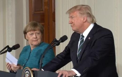 Merkel gặp Trump, hy vọng mở rộng đối thoại trong lĩnh vực thương mại