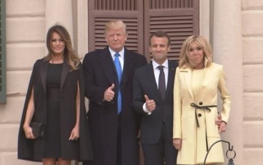 Tổng thống Pháp và đệ nhất phu nhân tới thăm ngôi nhà của George Washington