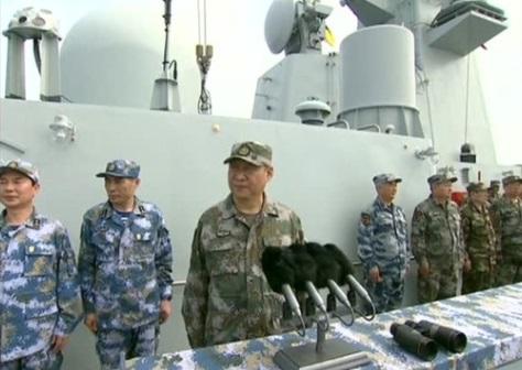 Hải quân Trung Cộng phô trương sức mạnh quân sự