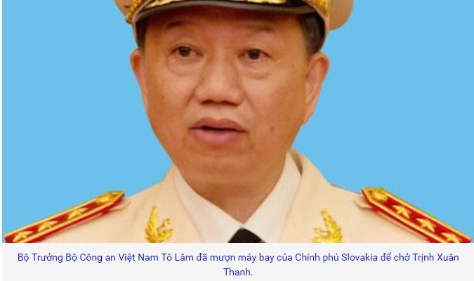 Bộ trưởng công an CSVN mượn máy bay Slovakia để đưa Trịnh Xuân Thanh về nước?