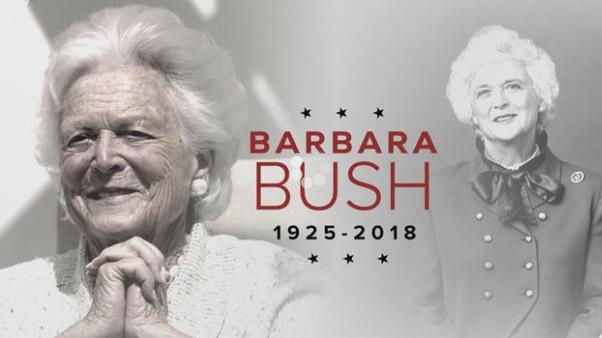 Cựu đệ nhất phu nhân Barbara Bush qua đời ở tuổi 92