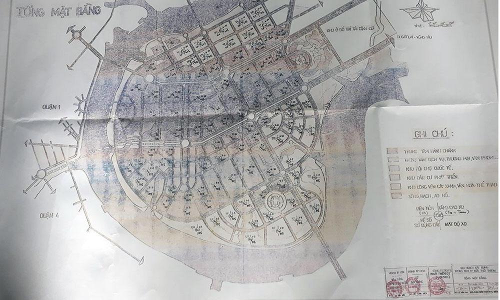 Người dân công bố bản đồ Thủ Thiêm nhà cầm quyền nói 'thất lạc'