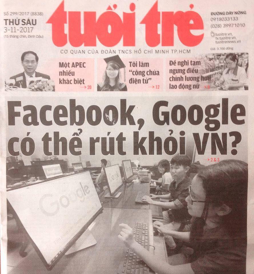 Luật an ninh mạng CSVN tiếp tục siết chặt Facebook & Google, đe dọa người bất đồng