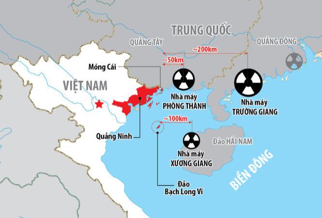 Nhà máy nguyên tử Trung Cộng thuộc 10 nguy cơ thảm họa đối với Hà Nội