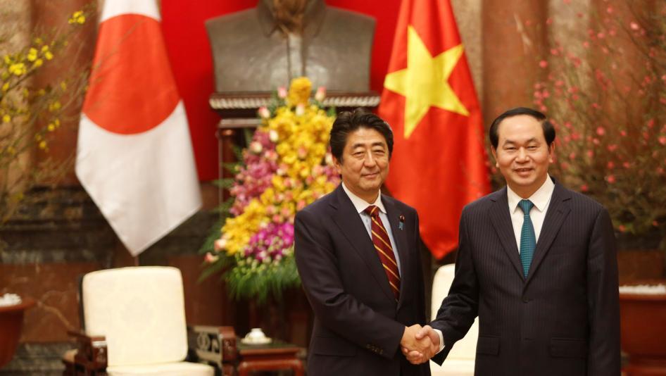 Tổ Chức Theo Dõi Nhân Quyền Thế Giới yêu cầu thủ tướng Nhật  áp lực CSVN về nhân quyền