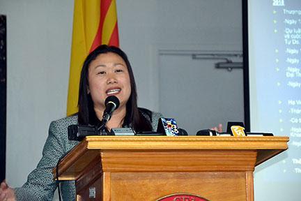 TNS Janet Nguyễn họp báo khẩn về dự luật SB 895 sau tuyên bố của phó thị trưởng Tyler Diệp