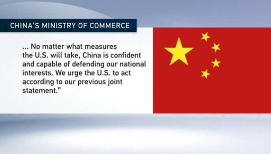 Trung Cộng chỉ trích Hoa Kỳ không tôn trọng thỏa thuận, tuyên bố sẵn sàng chiến tranh thương mại