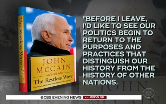 TNS John Mccain sử dụng từ ngữ gay gắt nói về tổng thống  Trump trong cuốn hồi ký