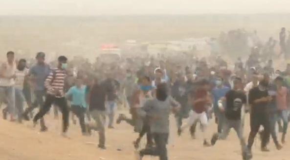 Binh sĩ Israeli bắn đạn thật vào người biểu tình Palestine, 1,100 người bị thương
