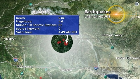 Động đất sáng 8 tháng 5 làm rung chuyển miền Nam California
