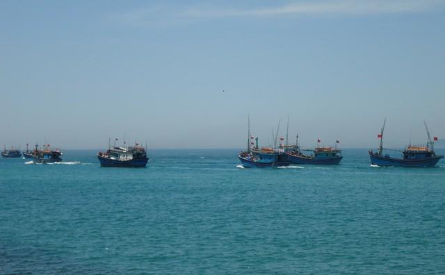 Trung Cộng xua đuổi 20 tàu cá Việt Nam vào tránh bão ở Hoàng Sa
