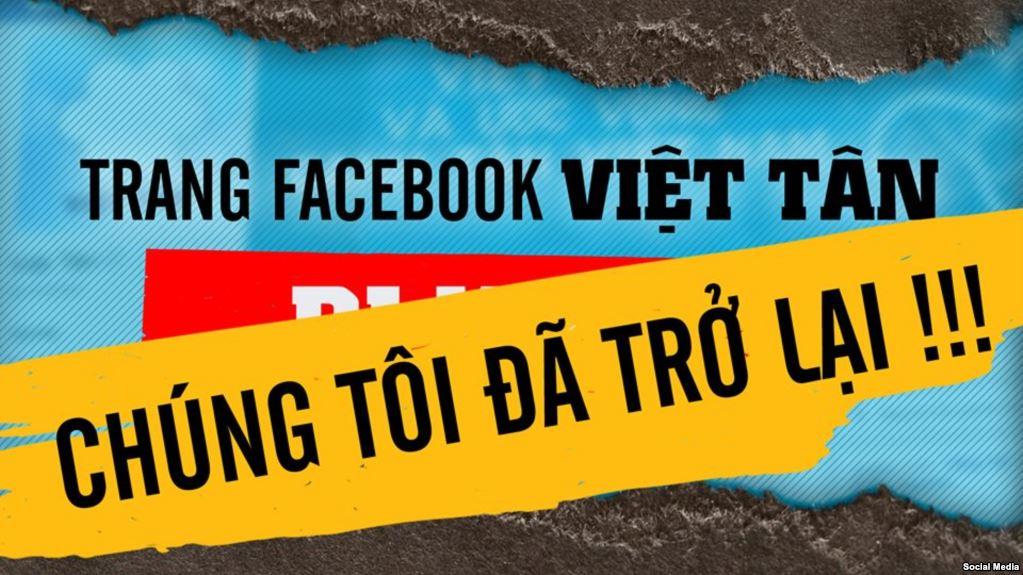 Trang Facebook của một số nhóm đấu tranh bị khóa, nghi do áp lực của CSVN