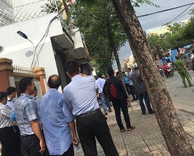 Nổ tại đồn công an phường 12 quận Tân Bình