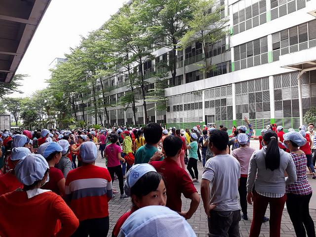 Hàng chục ngàn công nhân Pouyuen  Sài Gòn biểu tình chống luật đặc khu