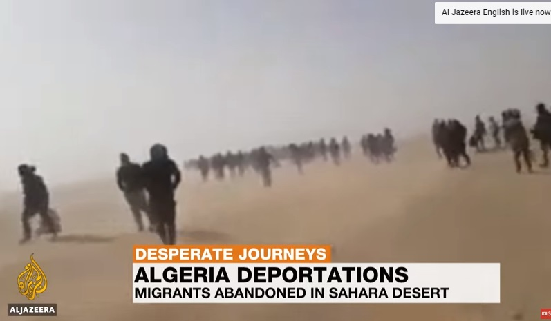 Algeria đẩy hơn 13,000 di dân vào sa mạc Sahara