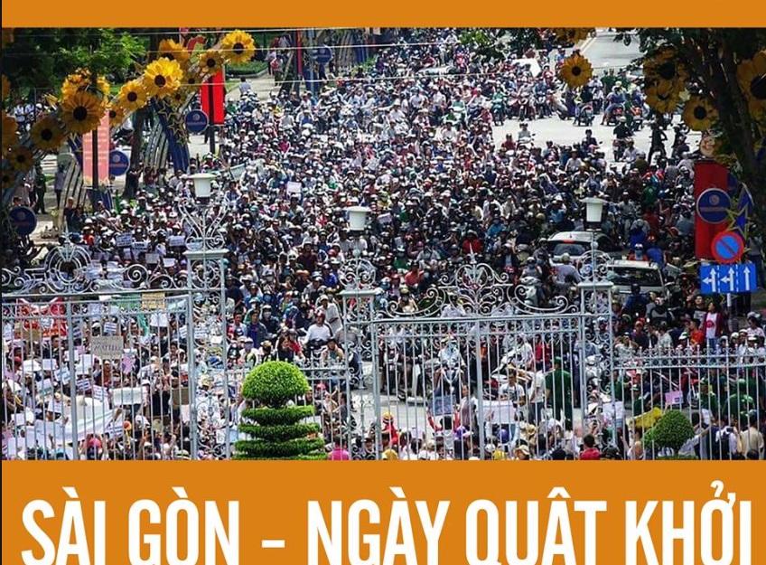 Bài hát Triệu Con Tim đã vang lên trong cuộc biểu tình chống dự luật đặc khu ở Sài Gòn