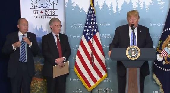"""Tổng thống Trump: đồng minh G7 không phải là khu vực thương mại """"không thuế nhập cảng"""""""
