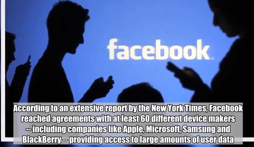 Facebook cung cấp dữ liệu khách hàng cho Apple, Microsoft, Samsung, Blackberry