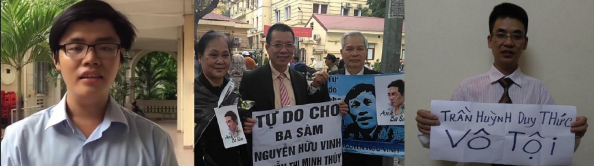 Ân Xá Quốc Tế kêu gọi thả 3 người bảo vệ nhân quyền: Vũ Quang Thuận, Nguyễn Văn Điển & Trần Hoàng Phúc