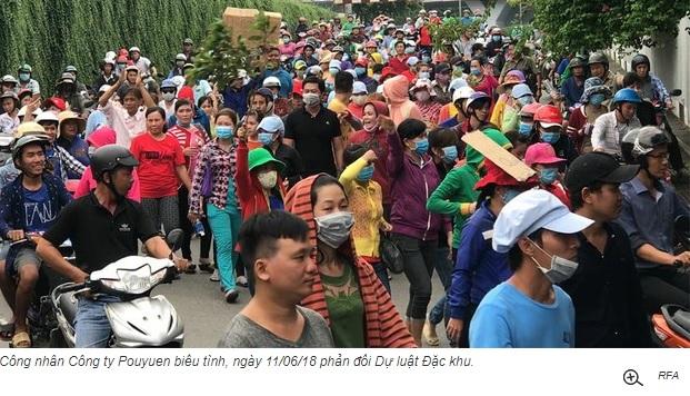 Hàng trăm công nhân Pouyuen Sài Gòn bị đuổi việc vì đi biểu tình
