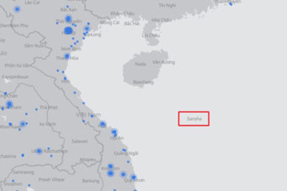 Faceboook sử dụng bản đồ Việt Nam không có Trường Sa, Hoàng Sa