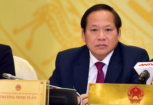 Bộ trưởng thông tin Trương Minh Tuấn bị kỷ luật bằng hình thức 'cảnh cáo'