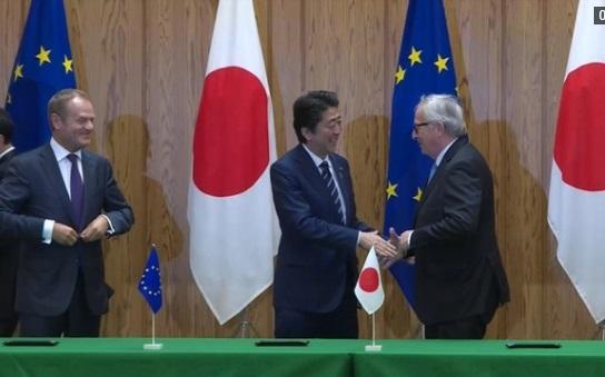 Nhật ký thỏa thuận thương mại với EU, loại bỏ hầu hết thuế nhập cảng giữa đôi bên
