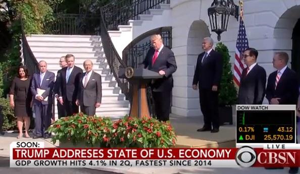 Tăng trưởng kinh tế Hoa Kỳ chạm mức 4.1% trong quí hai