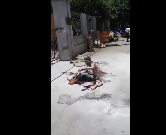 Một người dân oan tự thiêu tại cổng ban tiếp dân ở Hà Nội