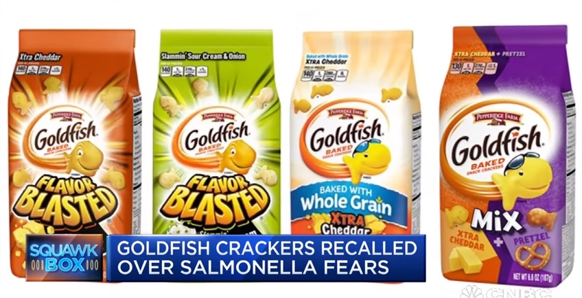 Đến lượt bánh Goldfish của Pepperidge Farm bị thu hồi vì sợ nhiễm Salmonella