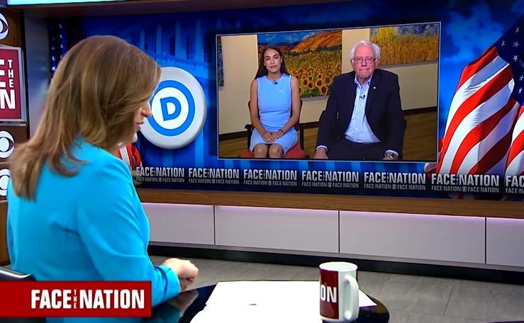 Bernie Sanders và ứng cử viên Dân Chủ Alexandria Ocasio-Cortez vận động tại tiểu bang Đỏ