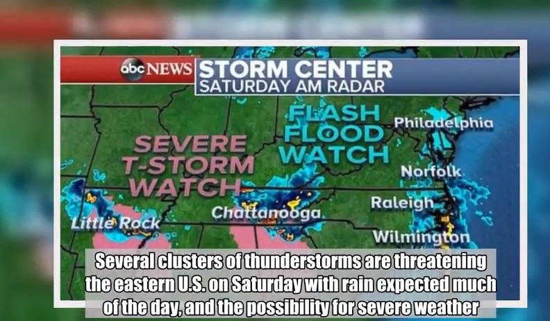 Mưa to, dông bão đe dọa ngập lụt nghiêm trọng dọc theo bờ biển Miền Đông Hoa Kỳ