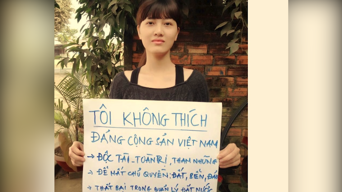 Nhà hoạt động Huỳnh Thục Vy bị bắt giữ và khám xét nhà