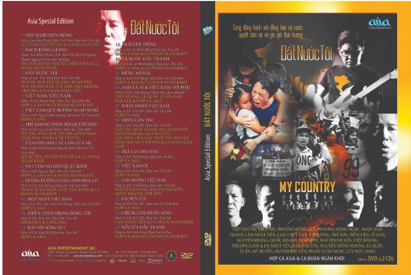 DVD Đất Nước Tôi & CD Việt Khang: bộ sưu tập dành cho những người yêu nước