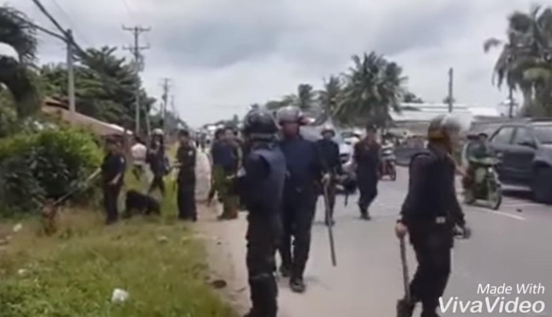 300 người cai nghiện đánh nhân viên trại rồi tràn ra đường ở Tiền Giang