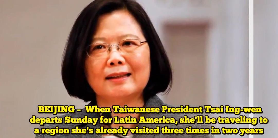 Tổng thống Đài Loan bắt đầu chuyến công du Châu Mỹ La Tinh