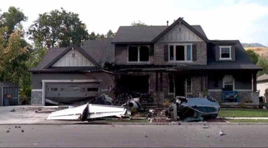 Cư dân Utah lao phi cơ nhỏ vào nhà mình sau khi cãi nhau với vợ