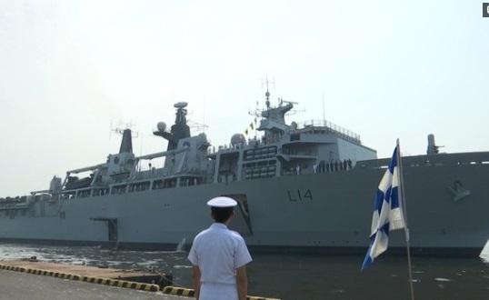 Chiến hạm Anh Quốc cập cảng Tokyo
