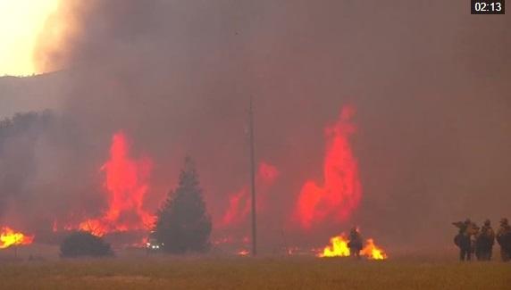 Trận cháy rừng Mendocino Complex Fire California có thể kéo dài tới cuối tháng 8