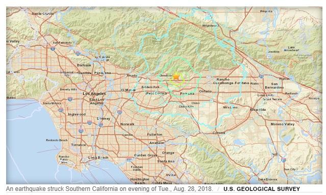 Động đất 4.4 độ richter làm rung chuyển Nam California