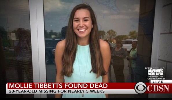 Tìm thấy thi thể của nữ sinh viên Mollie Tibbetts sau hơn một tháng tìm kiếm