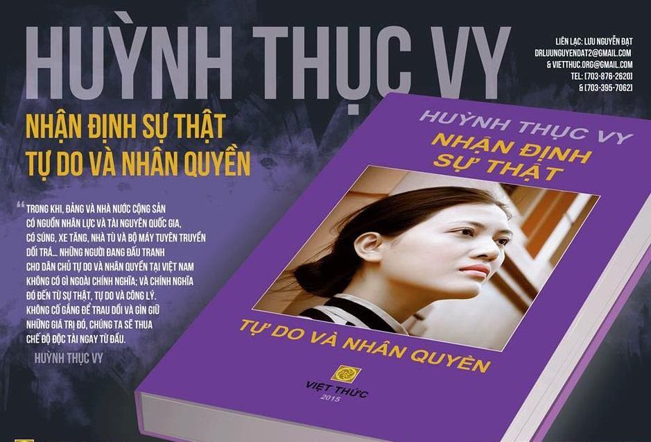 Blogger Huỳnh Thục Vy đã bị khởi tố, nhưng được tạm trả về nhà vì có con nhỏ