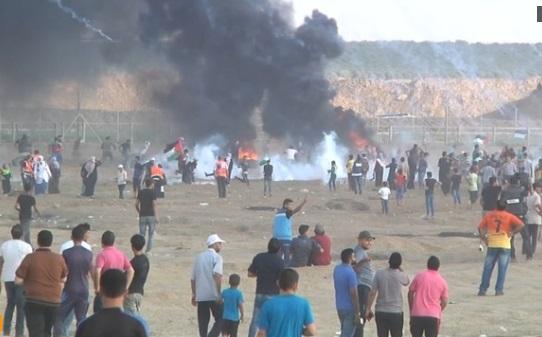 Binh sĩ Israeli bắn chết 1 người Palestine biểu tình ở biên giới Gaza