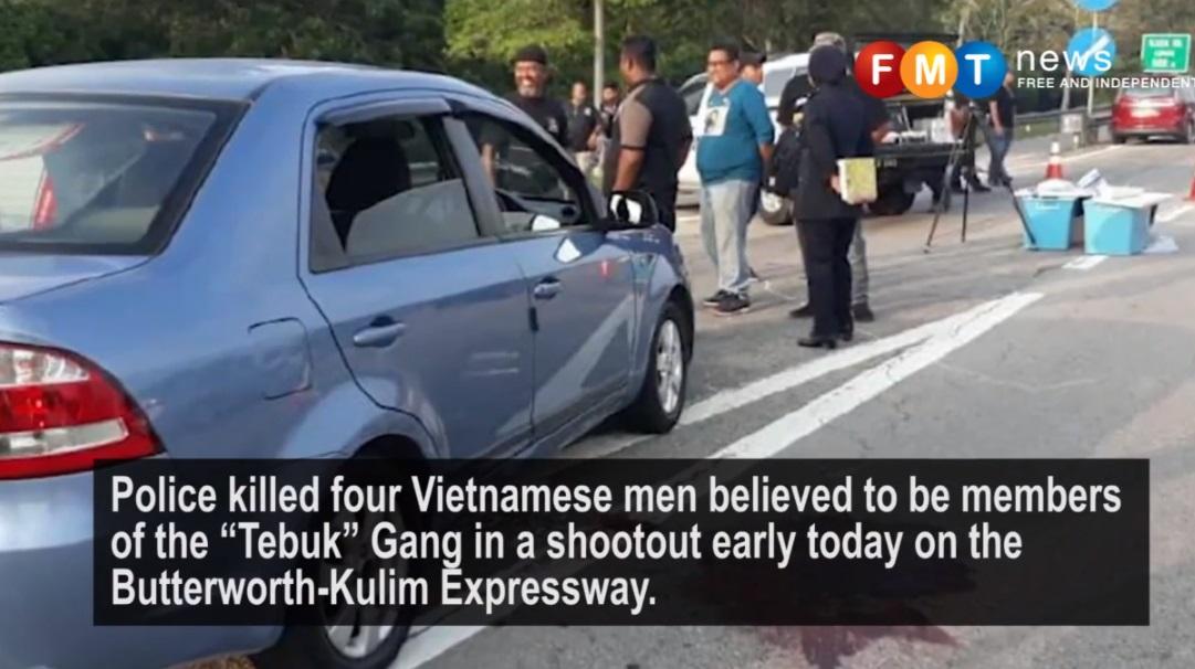 Cảnh sát Mã Lai bắn chết bốn thanh niên việt trong băng đảng 'Tebuk'