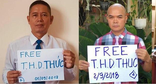 Nhiều nhà hoạt động tuyệt thực tiếp sức ông Trần Huỳnh Duy Thức