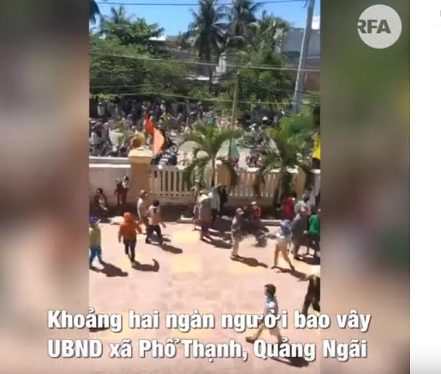 Công an Quảng Ngãi bắt giữ 9 người biểu tình phản đối nhà máy rác