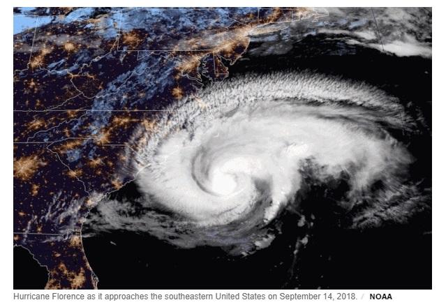 Bão Florence suy giảm thành bão cấp 2 và đang tiến gần đến North Carolina