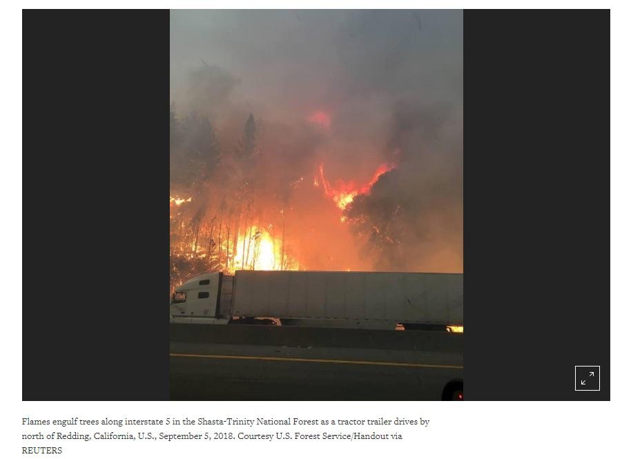 Cháy rừng trở lại ở Bắc California buộc người dân di tản