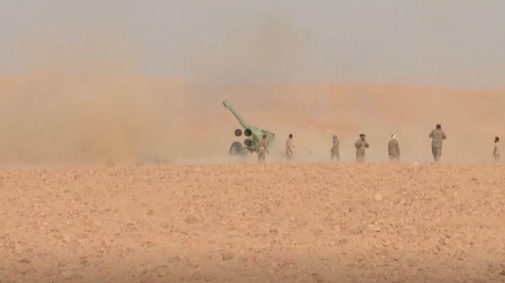 Thủy quân lục chiến Hoa Kỳ thực tập không kích trên sa mạc Syria